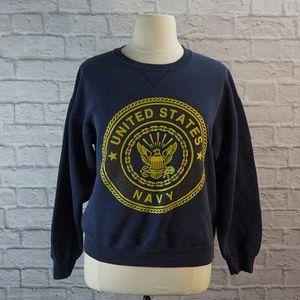 Vintage United States Navy Sweatshirt Large